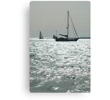 BW Boat Canvas Print