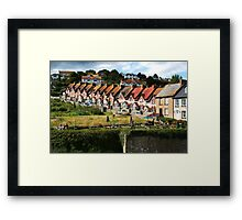 Fishermans Cottages Framed Print