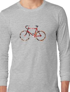 The Bicycle. Colour Sketch. Long Sleeve T-Shirt