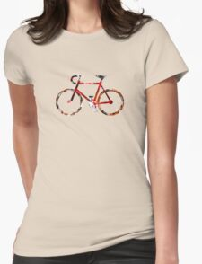 The Bicycle. Colour Sketch. Womens Fitted T-Shirt