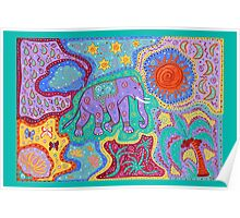 Elephant Dreamtime Poster