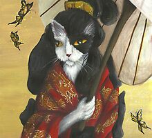 Gold Dragons Kimono Cat by TaraFlyPhotos