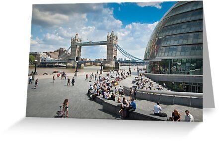 London City Hall and Tower Bridge by DonDavisUK