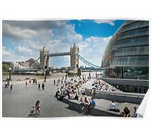 London City Hall and Tower Bridge Poster