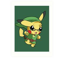Pikachu Link! Art Print