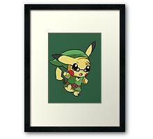 Pikachu Link! Framed Print