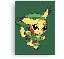 Pikachu Link! Canvas Print
