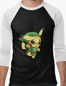 Pikachu Link! Men's Baseball ¾ T-Shirt
