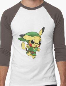 Pikachu Link! Men's Baseball ¾ T-Shirt
