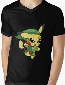 Pikachu Link! Mens V-Neck T-Shirt