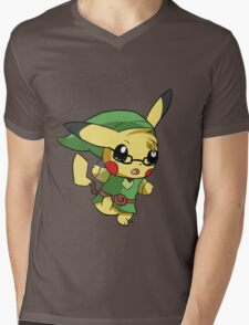 Pikachu Link! Mens V-Neck T-Shirt