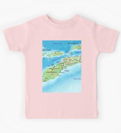 a colourful East Timor landscape Kids Tee