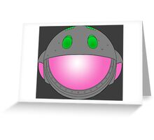 Heavy Metal Spaceship / Starship black outline, colour fill Greeting Card