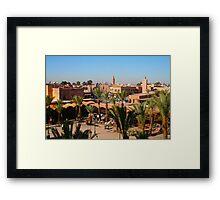 Postcard from Marrakech Framed Print