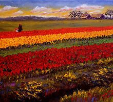 Evening Tulip Picking by sesillie