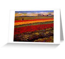 Evening Tulip Picking Greeting Card