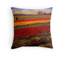 Evening Tulip Picking Throw Pillow