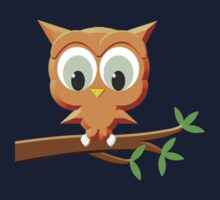 Little Owl On A Branch Kids Clothes