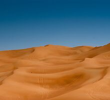 Desert Outside Dubai, UAE by pdgoodman