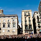 Crowd Celebrating Barcelona's La Merced (Festes da la Merce) by pdgoodman