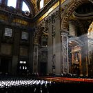 Sun Shining Into Entrance to Sistine Chapel in Rome, Italy by pdgoodman