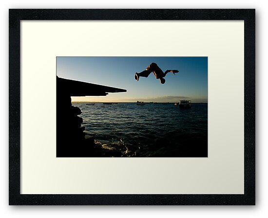 Young Man Dives into Ocean in Brazil by pdgoodman