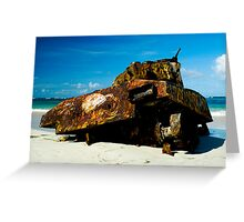 Deserted Tank in Culebra, Puerto Rico Greeting Card