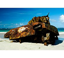 Deserted Tank in Culebra, Puerto Rico Photographic Print