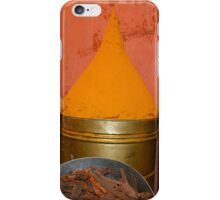Spices shop in the medina of Marrakesh, Morocco iPhone Case/Skin