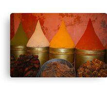 Spices shop in the medina of Marrakesh, Morocco Canvas Print