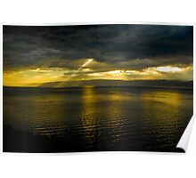 Sun Shines Over Israel and the Dead Sea  Poster