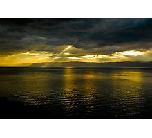 Sun Shines Over Israel and the Dead Sea  Photographic Print