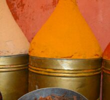 Spices shop in the medina of Marrakesh, Morocco Sticker