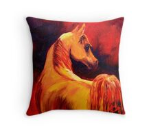 Arab Horse in Profile Throw Pillow