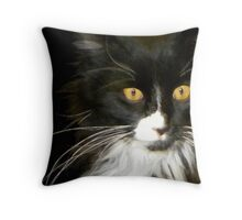 Artful Mittens Throw Pillow