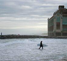 November Surf, Asbury Park by andykazie