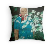 Lady among Flowers Throw Pillow
