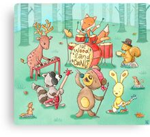 Woodland band Canvas Print