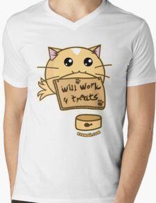 Fuzzballs Will Work For Treats Mens V-Neck T-Shirt