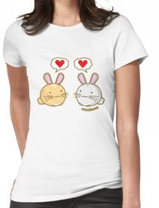 Fuzzballs Bunny Love Womens Fitted T-Shirt