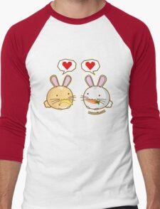 Fuzzballs Bunny Food Love Men's Baseball ¾ T-Shirt