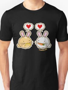 Fuzzballs Bunny Food Love Unisex T-Shirt