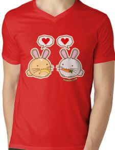 Fuzzballs Bunny Food Love Mens V-Neck T-Shirt