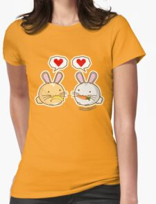 Fuzzballs Bunny Food Love Womens Fitted T-Shirt