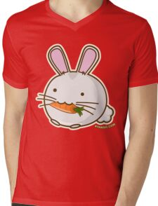 Fuzzballs Bunny Carrot Mens V-Neck T-Shirt