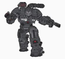 War Machine Tony Stark's Hulkbuster Suit Armour , Black outline with colour fill Kids Clothes
