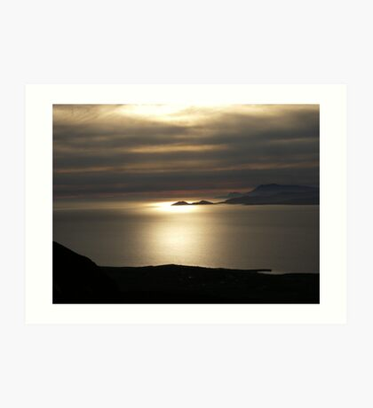 Achill Island as seen from Croagh Patrick Art Print
