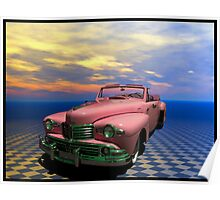 """1948 Lincoln Continental Convertible """"Pretty In Pink""""  Poster"""