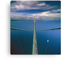 A View from the South Tower of the Mackinac Bridge Canvas Print