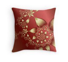 Satin and Gold Throw Pillow
